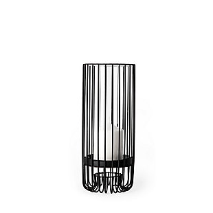 Small Metal Cylindrical Table Candle Holder, , large