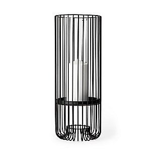 Large Metal Cylindrical Table Candle Holder, , large