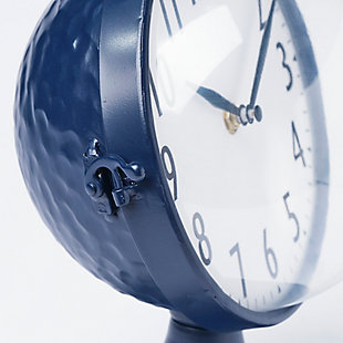 Blue Glass Dome Table Clock, , large