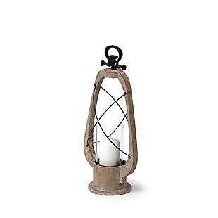 Brown Vintage Inspired Candle Holder Lantern, , large