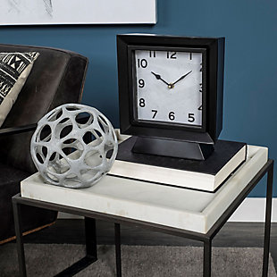 Black Square Table Clock, , rollover