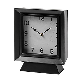Black Square Table Clock, , large