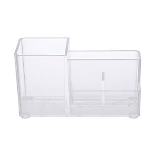 Kenney Storage Made Simple Bathroom Countertop Organizer, 4 Compartments, Set of 2, Clear, , large