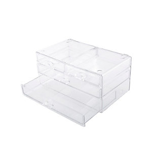 Kenney Storage Made Simple 4-Drawer Bathroom Countertop Organizer, Set of 2, Clear, , large