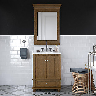 Atwater Living Jazmyne 24 Inch Bathroom Vanity with Sink, Natural, Natural Rustic, large