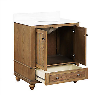 Atwater Living Jazmyne 30 Inch Bathroom Vanity with Sink, Natural, Natural Rustic, large