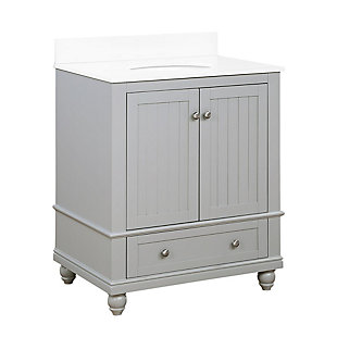 Atwater Living Jazmyne 30 Inch Bathroom Vanity with Sink, Gray, Gray, large