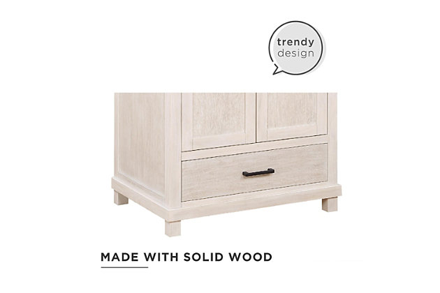 Atwater Living Mills 30 Inch Bathroom Vanity with Sink, Rustic White, Rustic White, large