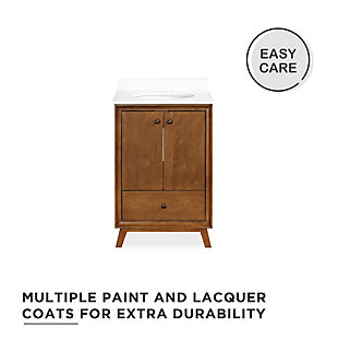 Atwater Living Delias 24 Inch Bathroom Vanity w/ Sink, Chocolate Spice, Chocolate, large