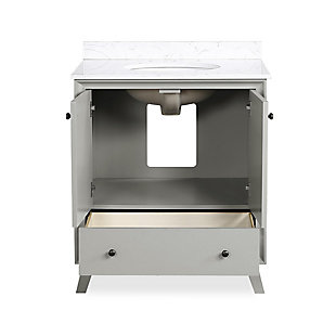 Atwater Living Delias 30 Inch Bathroom Vanity with Sink, Gray, Gray, large