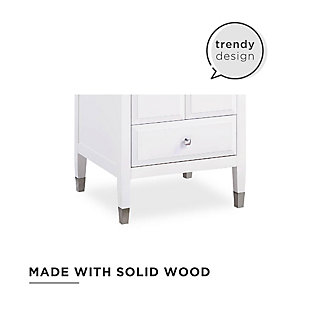 Atwater Living Brinley 24 Inch Bathroom Vanity with Sink, White, White, large
