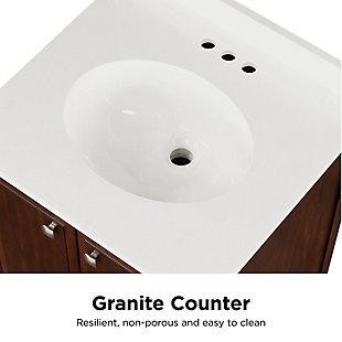 Atwater Living Brinley 24 Inch Bathroom Vanity with Sink, Walnut, Walnut, large