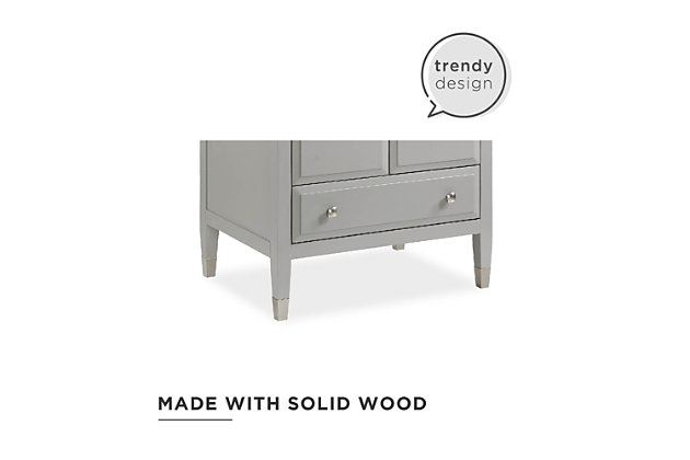 Atwater Living Brinley 30 Inch Bathroom Vanity with Sink, Gray, Gray, large