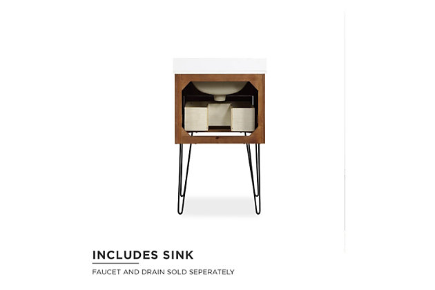 Atwater Living Agnes 24 Inch Floating Bathroom Vanity with Sink, Chocolate Spice Wood, Chocolate, large