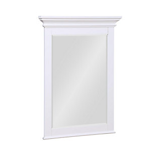 Atwater Living Jazmyne Bathroom Mirror, 24 Inch, White, White, large