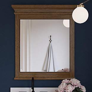 Atwater Living Jazmyne Bathroom Mirror, 30 Inch, Natural Rustic, Natural Rustic, rollover