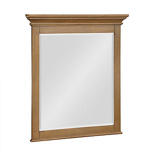 Atwater Living Jazmyne Bathroom Mirror, 30 Inch, Natural Rustic, Natural Rustic, large