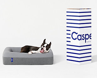 Casper Plush Memory Foam Dog Bed, Gray, large