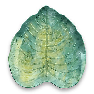 TarHong Palermo Tropical Leaf Appetizer Plate (Set of 6), , large