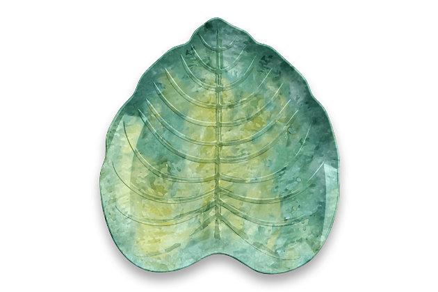TarHong Palermo Tropical Leaf Appetizer Plate (Set of 6), , large