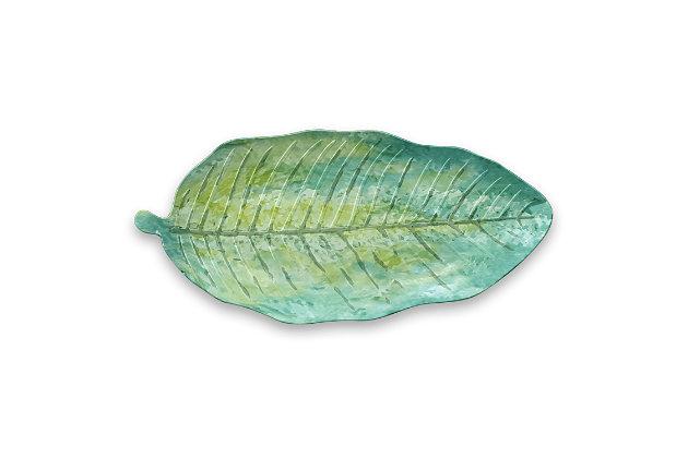 TarHong Palermo Tropical Leaf Platter Plate, , large