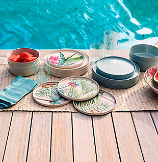 TarHong Palermo Tropical Bamboo Salad Plate, , rollover