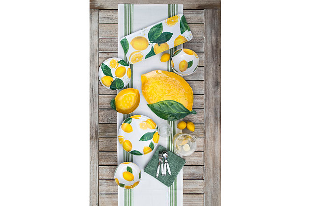 TarHong Lemon Fresh Figural Platter, , large