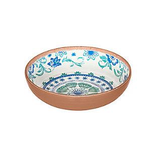 TarHong Rio Turquoise Floral Bowl (Set of 6), , large