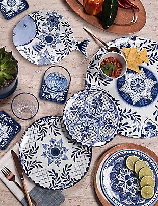 TarHong Cobalt Casita Chip & Dip Plate, , rollover
