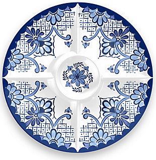 TarHong Cobalt Casita Chip & Dip Plate, , large