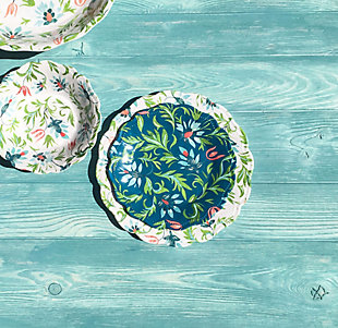 TarHong Chinoiserie Botanical Dinner Plate (Set of 6), , rollover