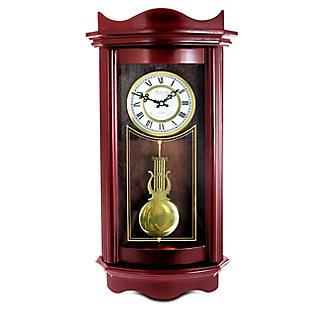 Bedford Chocolate Cherry Wood 25 Inch Wall Clock, , large