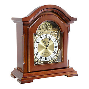Bedford Redwood Mantel Clock with Chimes, , large