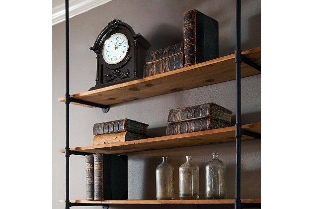 Bedford Wood Mantel Clock with Chimes, , large