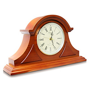 Bedford Mahogany Cherry Mantel Clock with Chimes, , large