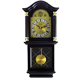 Bedford 26 Inch Wall Clock in Cherry Oak Finish, , large