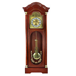 Bedford 33 Inch Wall Clock in Antique Cherry Oak Finish, , large