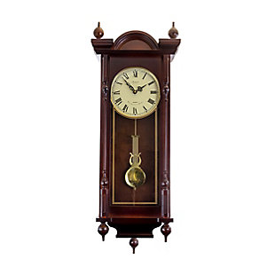 Bedford 31 Inch Wall Clock in Antique Mahogany Cherry Finish, , large