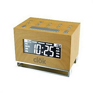 GPX Intelli-Set Clock with Digital Tune AM/FM Radio, , large