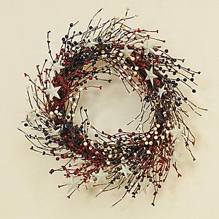 """Gerson 22""""L Americana Berry Wreath, , rollover"""