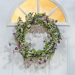 "Gerson 24"" Lavender Herb Wreath, , rollover"
