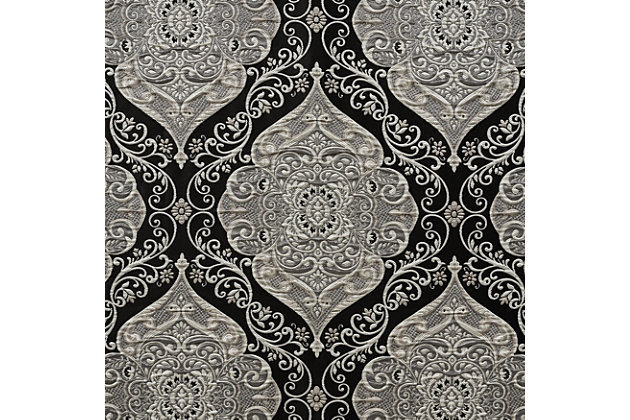 "J. Queen New York Vera - Black 84"" Window Panel Pair, , large"