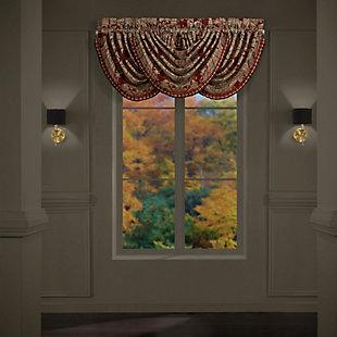 J. Queen New York Garnet Window Waterfall Valance, , large
