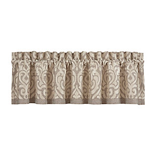 J. Queen New York Milan - Oatmeal Window Straight Valance, , rollover