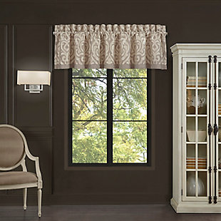 J. Queen New York Milan - Oatmeal Window Straight Valance, , large