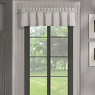 J. Queen New York Piper and Wright Cherry Blossom Window Straight Valance, , large