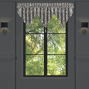J. Queen New York Five Queens Court Silverstone Window Ascot Valance, , large