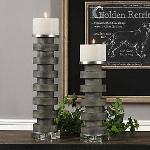 Uttermost Karun Concrete Candleholders (Set of 2), , rollover