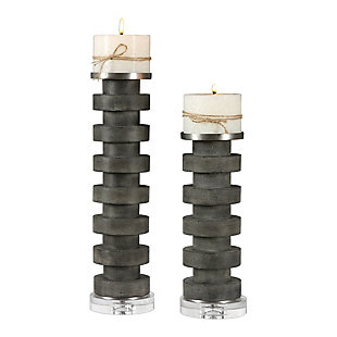 Uttermost Karun Concrete Candleholders (Set of 2), , large