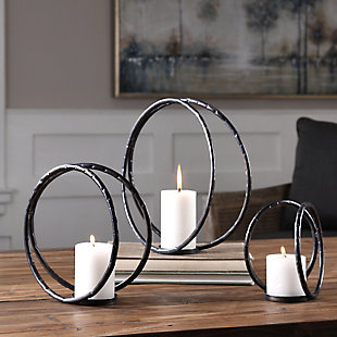 Uttermost Pina Curved Metal Candleholders (Set of 3), , rollover